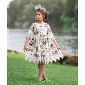 Trish Scully rosalina floral vintage lace dress